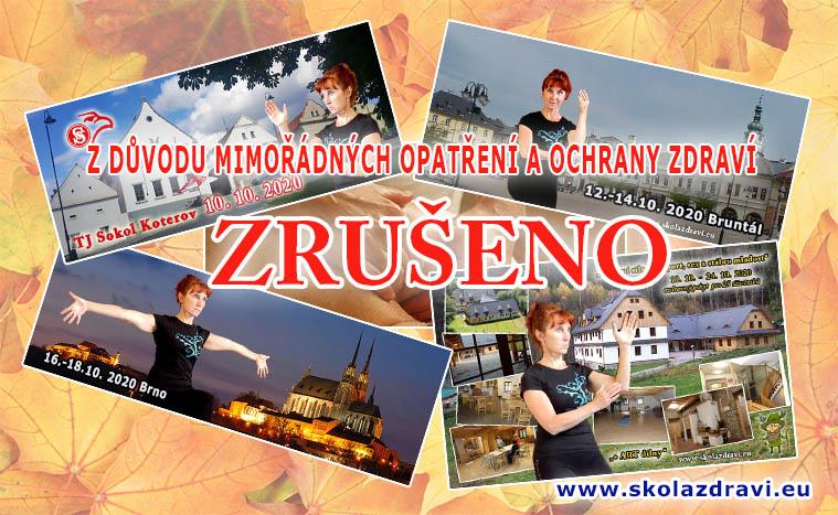 Kurzy a masáže od 9.10. – 25.10. 2020 ZRUŠENY!